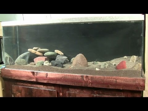 How to clean sand and set up an aquarium youtube for Best way to clean a fish tank