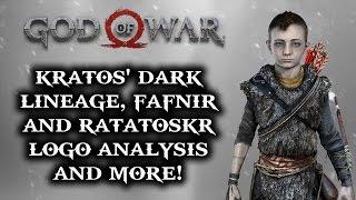 God of War PS4 - Kratos' Dark Lineage, Fafnir and Ratatoskr, Logo Analysis & More!