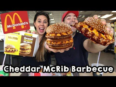 Festival de Cheddar McDonald's 🍔 McFritas Cheddar e Bacon 🍟 McRibs Barbecue 🍦 McFlurry