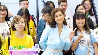 Hoàng Yến Chibi live No boyfriend cực chuẩn, được fan hộ tống khi đi event