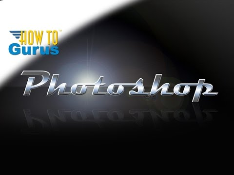 Adobe photoshop psd graphic design tutorial chrome silver mercury.