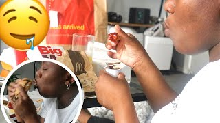 We  Ate FAST FOOD {McDonalds} for the FIRST TIME AFTER during  LOCKDOWN/New HOME DECOR HAUL