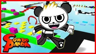 ROBLOX Mega Fun Obby Part 2! Run, Jump and Slide on Fun Obstacle Course! Let's Play with Combo Panda