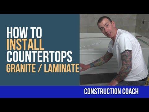 How to Install Countertops (Granite / Laminate) - DIY