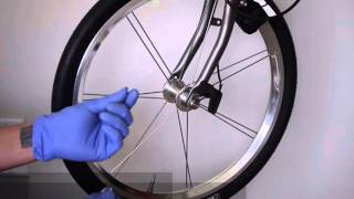 Assembly Nov Dynamo contactless front light on Brompton folding bike