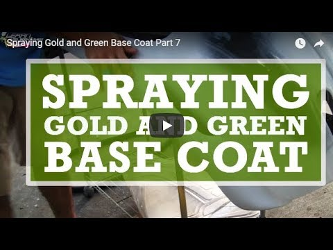 Spraying Gold and Green Base Coat Part 7
