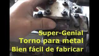 Repeat youtube video Fabricando mi Torno casero, trabaja acero y cualquier otro material, cómo hacer lo más básico.