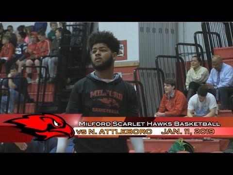 Milford Scarlet Hawks Basketball - January 11, 2018 vs North Attleboro