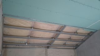 мансарда, гипсокартонный потолок простой формы. Gyproc ceiling.