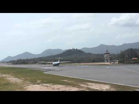 "Bangkok Airways ""Chang"" ATR 72-500 Take off from KOH SAMUI airport, Thailand"