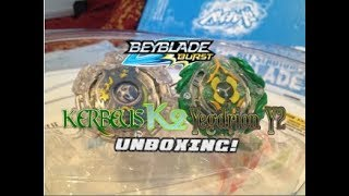 Kerbeus K2 & Yegdrion Y2 unboxing! ~ BEYBLADE BURST!
