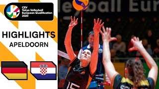 Germany vs Croatia Highlights CEV Women s Tokyo Volleyball Qualification 2020