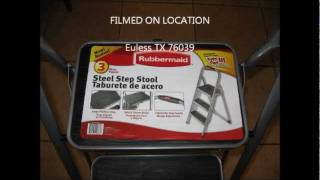 Rubbermaid 3 Steps Steel Step Stool