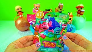Opening Blind Bags! A Pool of Toy Surprises! Opening Blind Bag Mickey Mouse, Trolls, Fingerlings