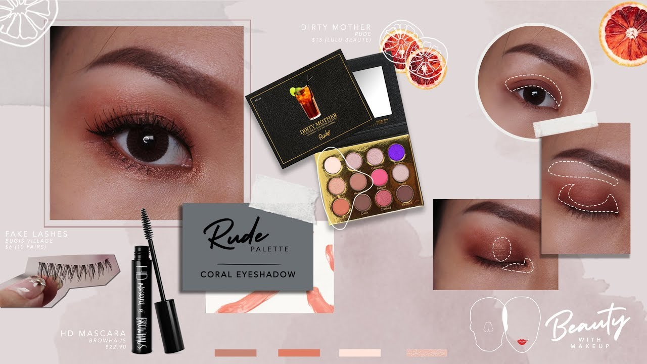 Rude Dirty Mother Palette | Coral Eyeshadow Tutorial