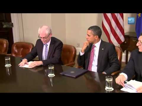 President Obama Speaks on US-EU Summit with Herman Van Rompuy and President José Manuel Barroso