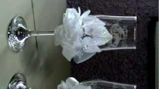 Бокалы свадебные с гравировкой.Именные