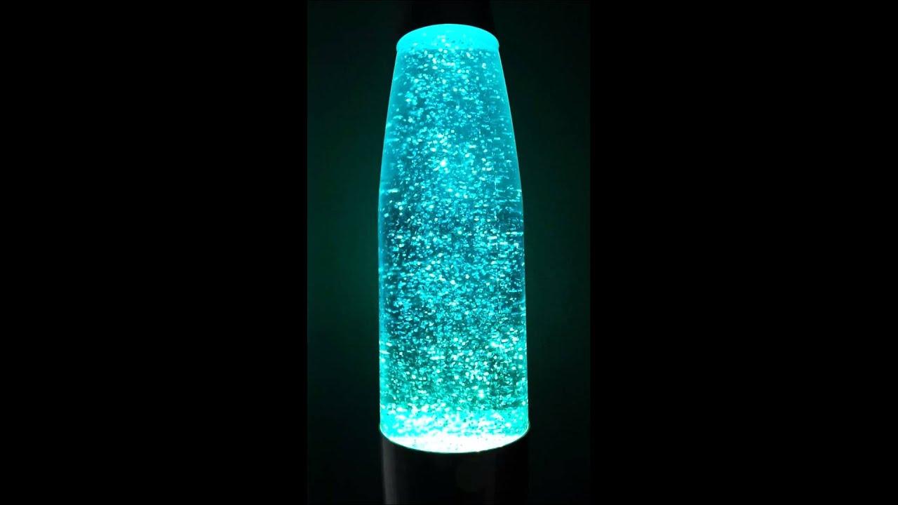 Blue Glitter Lava Lamp