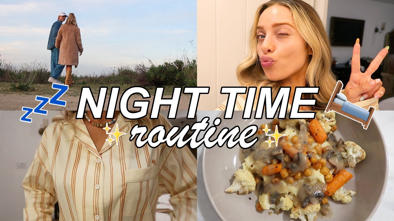 my realistic night time routine | skincare, productivity, dinner