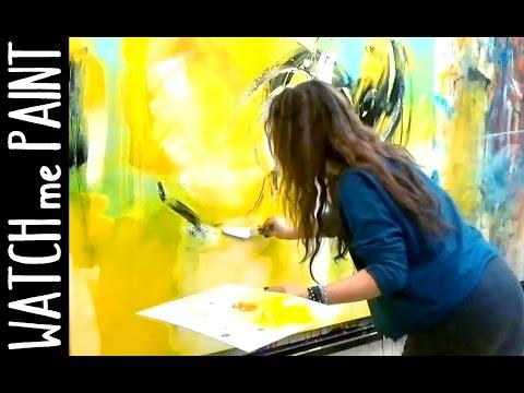 Abstract acrylic painting – peinture abstrait – abstrakte Malerei by zAcheR-finet