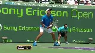 Roger Fed R V Novak Djokovic Miami 2009 Sf Highlights