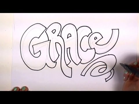 How to write your name in graffiti on paper