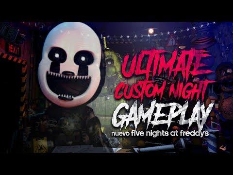 GAMEPLAY ULTIMATE CUSTOM NIGHT ASI ES EL NUEVO FIVE NIGHTS AT FREDDY'S Y DONDE DESCARGARLO