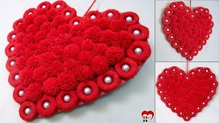 WOW !! Amazing Heart Wall Hanging || Best Out of Waste Idea 2019 || Handmade Things