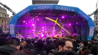 Diwali 2012 celebrations on Trafalgar Square in London  p2.mp4