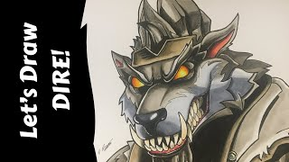 Let's Draw FORTNITE - THE DIRE Werewolf Skin - Speed Drawing