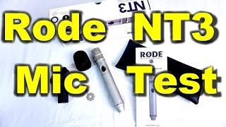 the rode nt3 hypercardioid condenser microphone for video audio sound test
