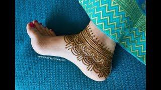 मेहंदी से बनायें पैरों के लिए सुंदर पायल   STYLISH HENNA MEHENDI ANKLET DESIGN FOR FEET