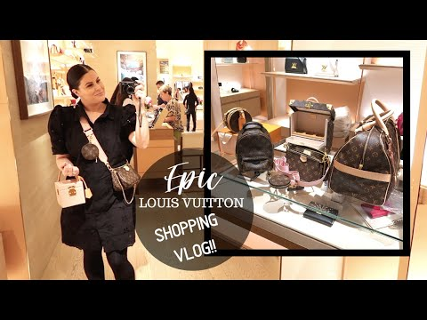 EPIC SHOPPING VLOG AT LOUIS VUITTON 💸💸💸| Jerusha Couture