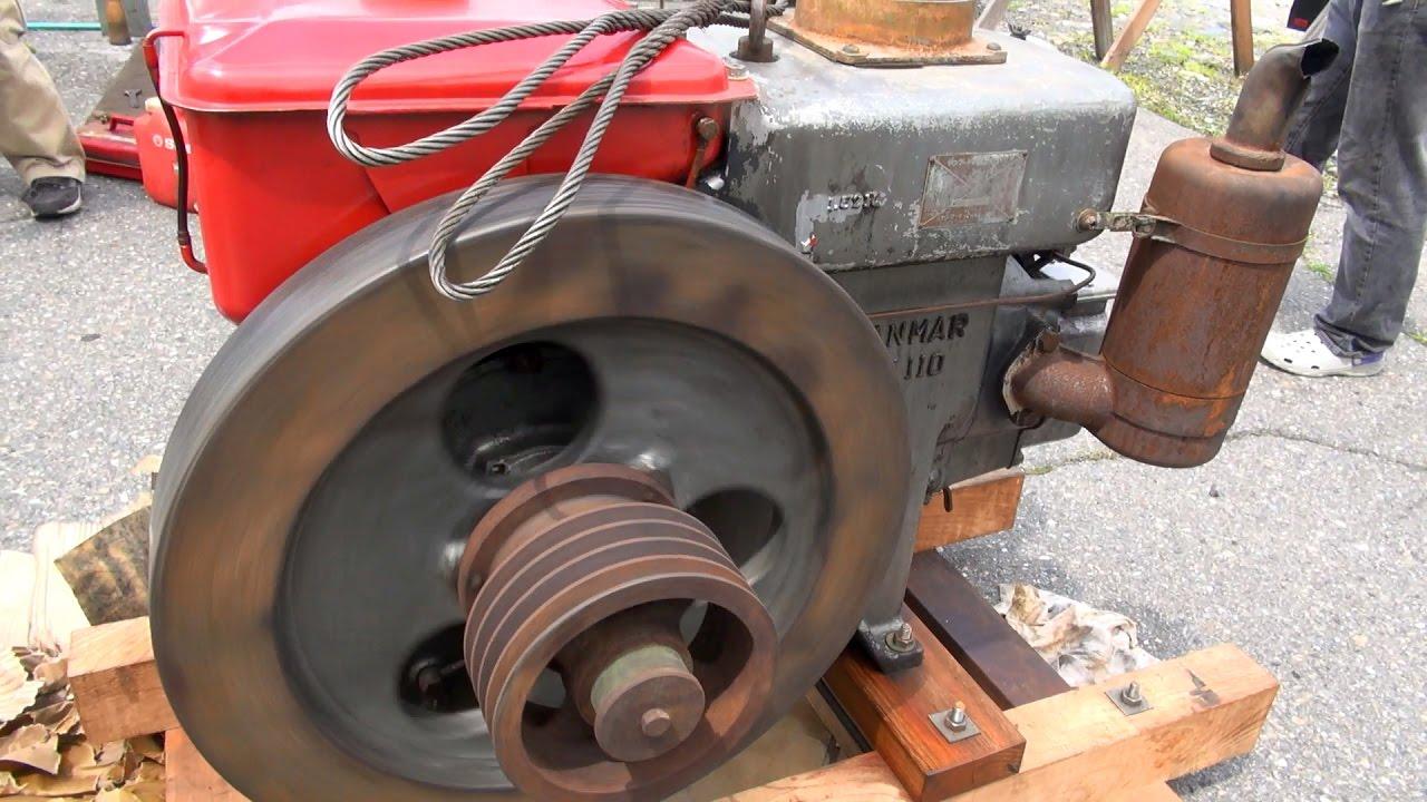 Old Engines in Japan 1950s YANMAR Diesel Type NT110 13hp Part 1