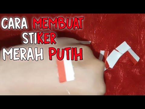 Cara Membuat Stiker Pipi Bendera Merah Putih Untuk 17 Agustus Youtube