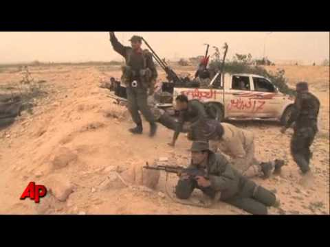Raw Video: Libyan Rebels Attack Oil Port