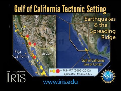 Gulf of California Tectonic Setting—Earthquakes & the Spreading Ridge