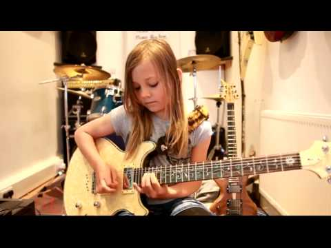 10 year old Zoe Thomson shreds Highly Strung by Orianthi and Steve Vai