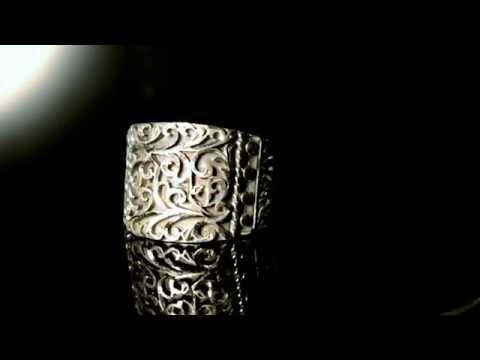 Charm Handmade Men Silver Ring