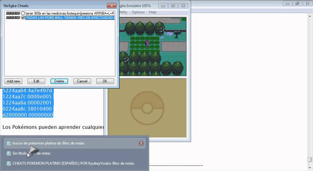 cheats pokemon platino
