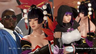 Dead Or Alive 6 Nyotengu Flirting With Zack, Leifang, Ayane & Getting Drunk With Brad (Teasing)
