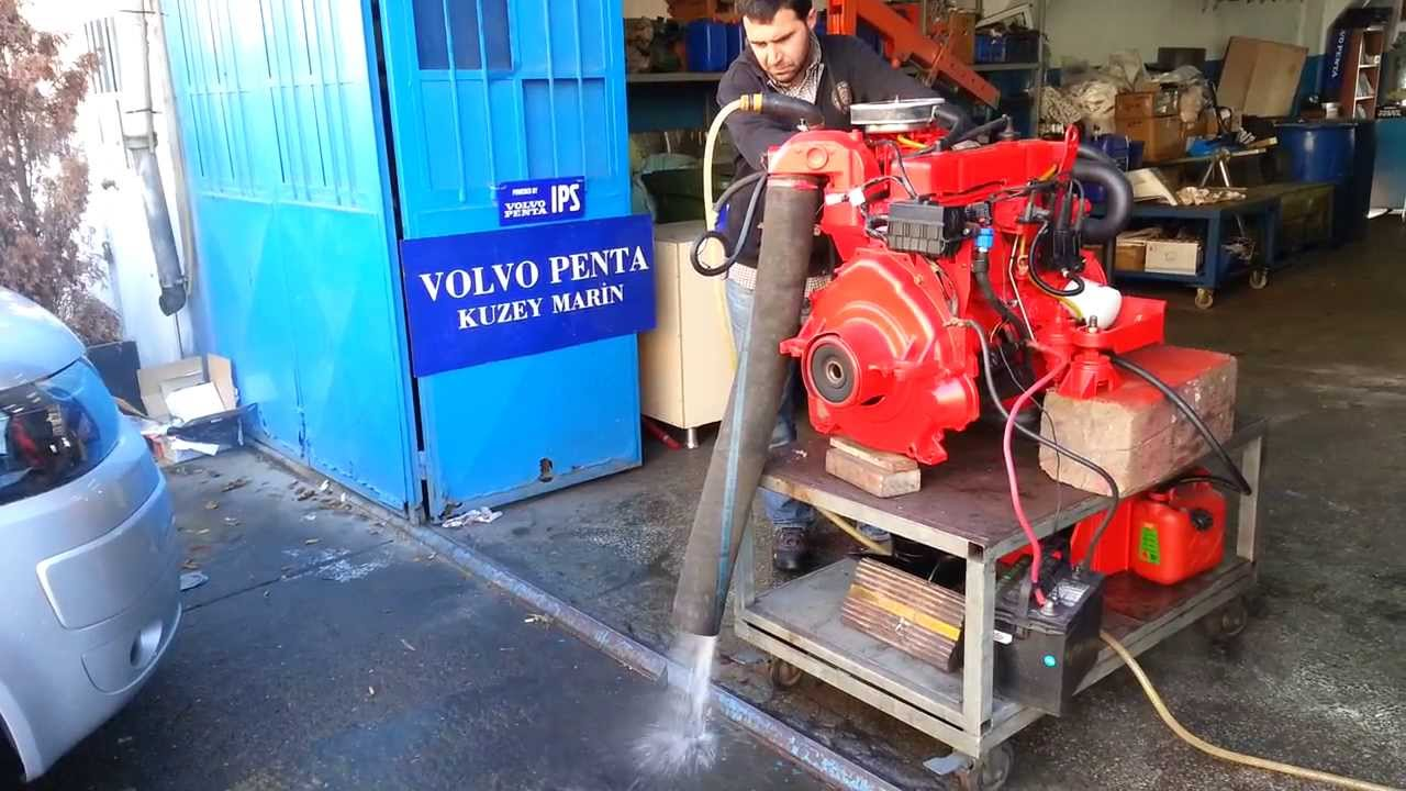 hight resolution of volvo penta 3 0gl motor