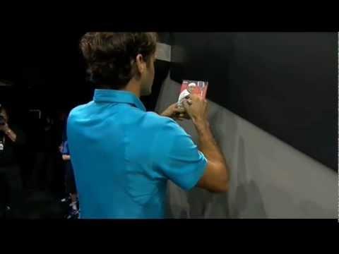 Rotterdam 2013 R2 Federer On Court Interview
