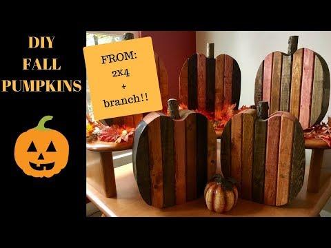 Wooden Pumpkins DIY
