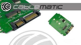 adaptador sata a disco duro sdd ngff m 2 de un puerto formato placa distribuido por cablematic