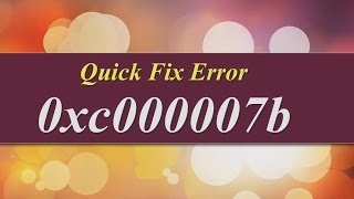 How to Fix 0xc000007b Error easily [Softwares & PC GAMES] WINDOW 7, 8 and above(https://www.facebook.com/pages/Tricky-Tech/659435814091206?sk=timeline How to Fix 0xc000007b Error easily [Softwares & PC GAMES] WINDOW 7, 8 and ..., 2015-06-25T20:58:42.000Z)
