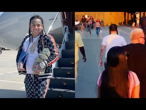 6ix9ine Takes Private Jet To LA Walks Around Looking For The People Who Said He Couldn't Come
