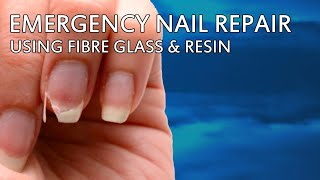 How to repair a broken nail using fibre glass and resin