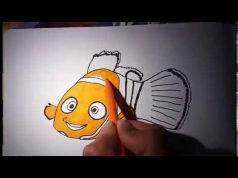 Full Download Tutorial Cara Menggambar Ikan Nemo Dan Mewarnai
