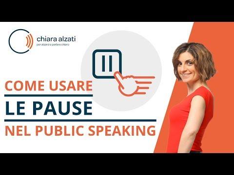 I tipi di pause nel Public Speaking e nel Video Public Speaking